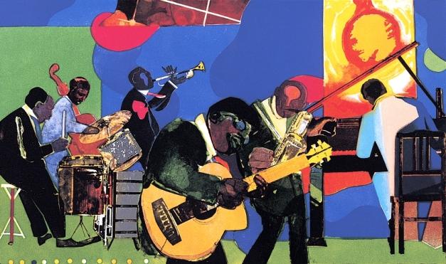 Romare-Bearden-Jamming-at-the-Savoy-1981