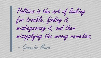 politics-is-the-art-of-looking-for-trouble-art-quote