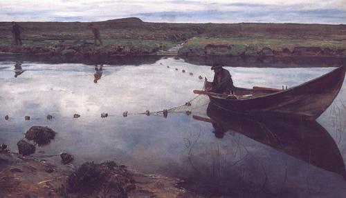 Eilif_Peterssen-Laksefiskeren_(1889)