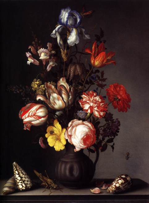 balthasar-van-der-ast-flowers-in-a-vase-with-shells-and-insects
