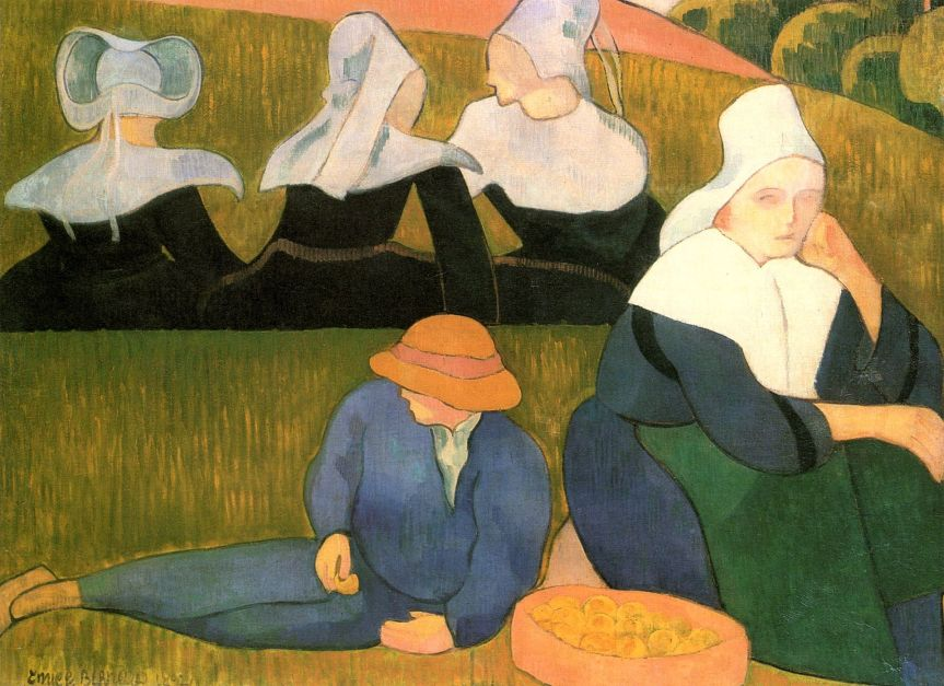 Emile_Bernard,_Breton_Peasants_in_a_Meadow,_1892