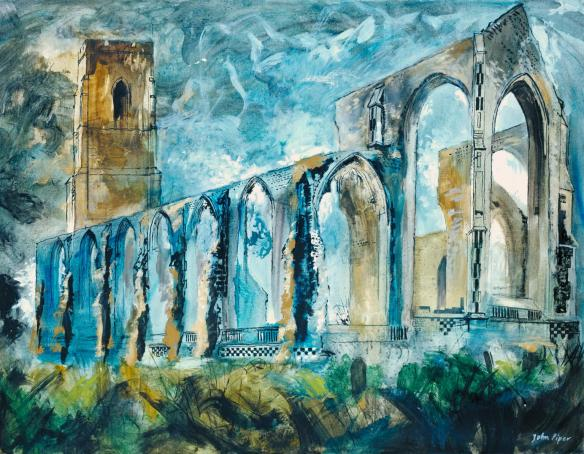 Covehithe Church 1983 by John Piper 1903-1992