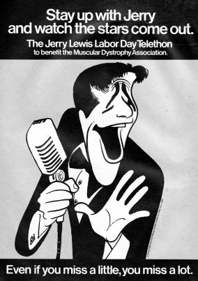 Jerry Lewis Labor Day Telethon 1980 Ad. Business. Stock Number: 09210.